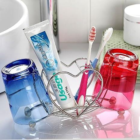 Porta Cepillo de dientes en forma de corazón con mug porta ...