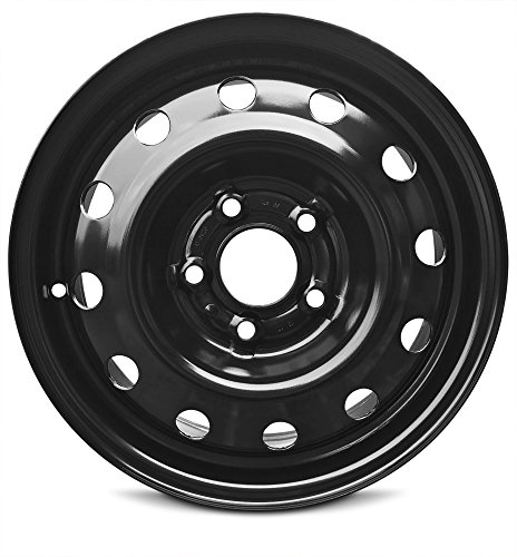 114.3 Replica Wheel (New Nissan NV200 Cargo Van (13-17) 15 Inch 5 Lug OEM Replica Replacement Full-Size Black Steel Wheel Rim 15x5.5 5x114.3)