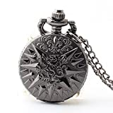 Shirleyle Retro Unisex Clamshelled Long Chain Vintage Pocket Watch For Wedding Birthday's Gift