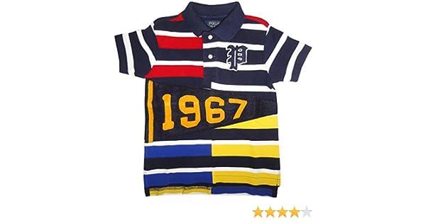 917c57c8b Amazon.com: Polo Ralph Lauren Toddler Boys' (2T-4T) Pennant Mesh Polo Shirt-French  Navy: Clothing