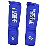 Strength Training Leg Guard, Breathable Thick Foam Padding Leg Foot Protector Guard for Muay Thai, Taekwondo Training