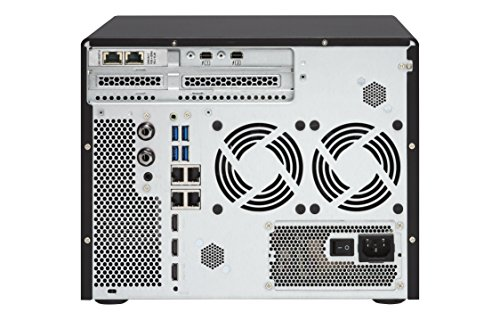 """QNAP 8 Bay Thunderbolt 2 Das/NAS/iSCSI IP-San Solution, Intel Core i5 3.6GHz Quad Core (TVS-882T-i5-16G-US) 5 Intel Core i5-6500 3.6 GHz, 16GB RAM (max. 32GB), 6x 3.5"""" HDD, 2x 2.5"""" HDD/SSD, 2x M.2 SSD slots, 4-lan, 2x 10gbase-t, 2x Thunderbolt port, iscsi, PCIe expansion slot x3 Built-in M.2 SATA 6GB/s slots & 2.5"""" SSD slots ; qtier technology and SSD cache enable 24/7 optimized storage efficiency TRIPLE HDMI output (including one HDMI 2.0) for smooth 4K video playback"""
