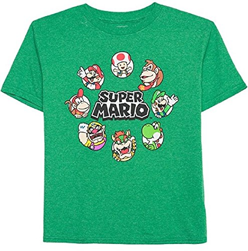 Nintendo Super Mario Maker Circle of Friends Short Sleeve Graphic Shirt (Medium (Mario Maker Costumes)