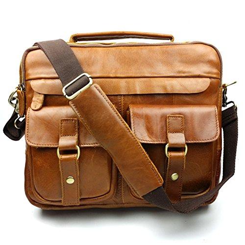 Baigio Mens Large Retro Handbag Shoulder Messenger Bag (b...