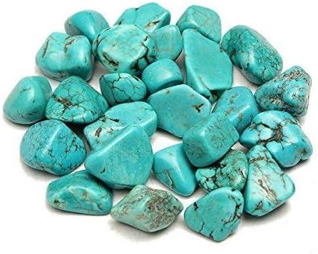 Amazon.com: Decorative Pebbles 100g Blue Turquoise Rock Polished Rough  Healing Nugget Gemstone Mineral Specimen Garden Patio Decorations:  Everything Else