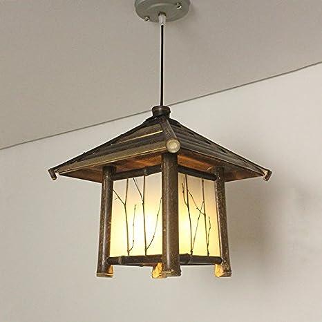 XZY manual creativo estilo araña lámpara bambú Restaurante Y ...