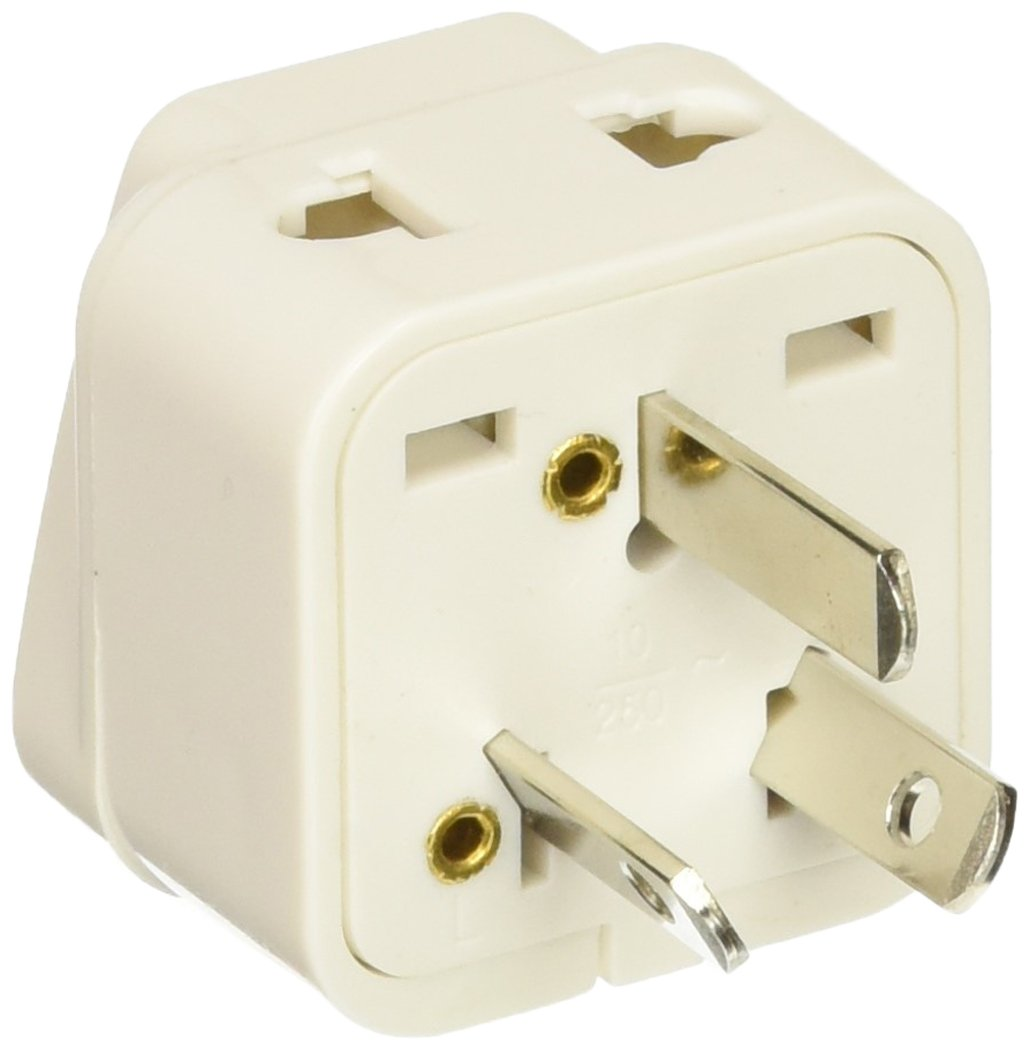 CKITZE BA-16-3P Canada to Australia/New Zealand Grounded Universal 2-in-1 Type I Plug Adapter, 3-Pack CVID