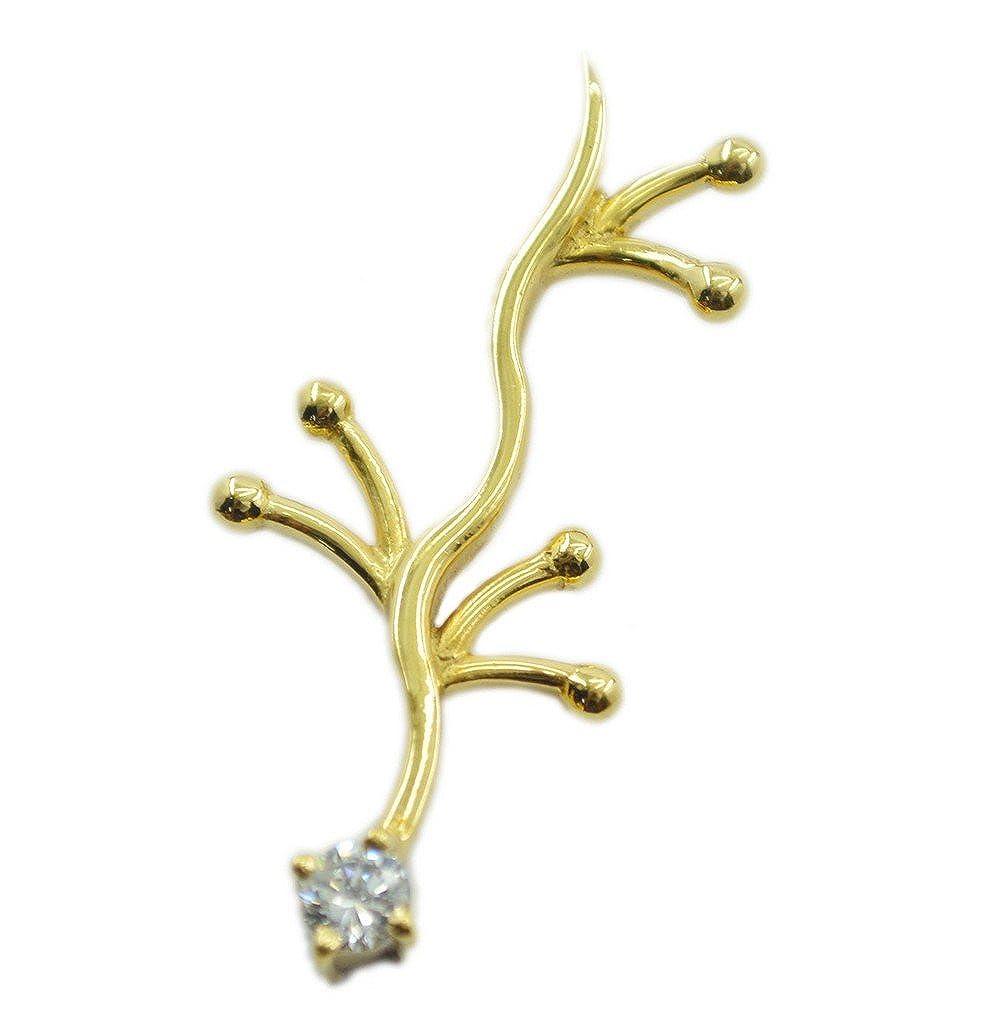 CaratYogi Designer Gold Plated White CZ Pendant Jewelry