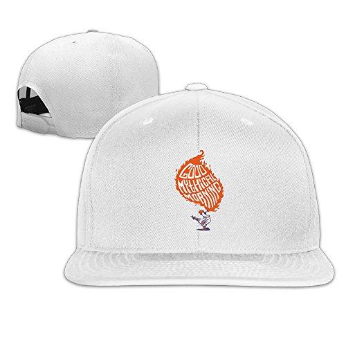 qianye-good-mythical-morning-logo-flat-brim-adjustable-baseball-cap-white