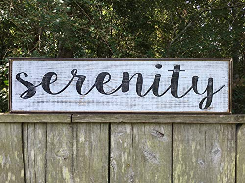 (Adonis554Dan Serenity Signs Fixer Upper Inspired Sign 10x24 Rustic Wood Sign Farmhouse Sign Wall Dcor )