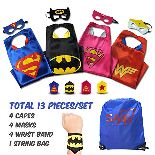 Superhero capes for kids with Masks & Wristbands-4