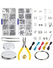 KUUQA Jewelry Making Kit Jewelry Finding Starter Tools Kit with Pliers for Jewelry Making Repair DIY Craft Supplies