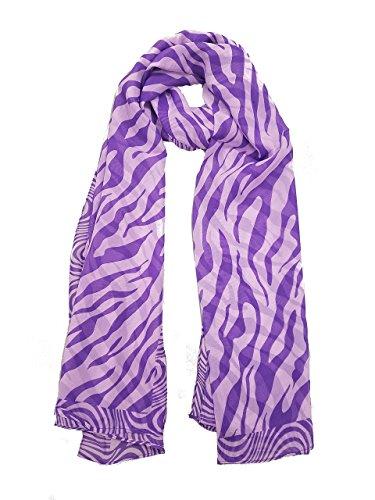 Zebra Print Chiffon Scarf - 3
