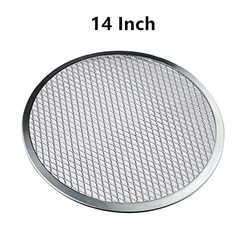 14'' Pizza Screen Aluminum Pizza Pan Round Chef's Baking Screen,Commercial Grade Microwave Crispers -