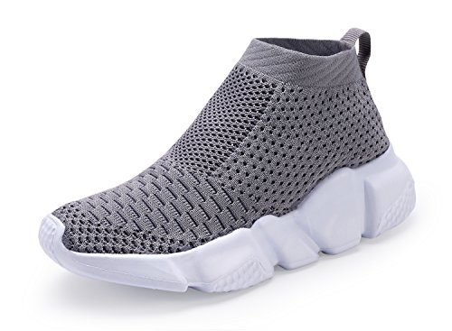 Casbeam Breathable Lightweight Boys and Girls Sport Fashion Sneakers Gray 32 ()