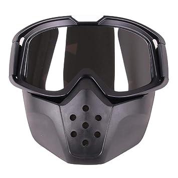 Febelle - Máscara de Casco de Motocicleta Desmontable con Filtro de Boca para Moto Carreras,