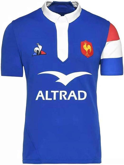 YHANS Camisetas de Rugby para Hombre,Copa Mundial de Fútbol del fútbol de Francia Réplica de Camiseta y Fuera de casa Conjunto de fútbol de poliéster de Secado rápido Camisa: Amazon.es: Deportes y