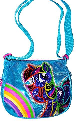 My Little Pony Rainbow Twilight Sparkle Turquoise Metallic Messenger Side Bag