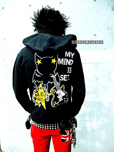 MAD DOG ROCKERSパンク・ロック系パーカー:ロックスター ヴァンパイアR 黒(ブラック)
