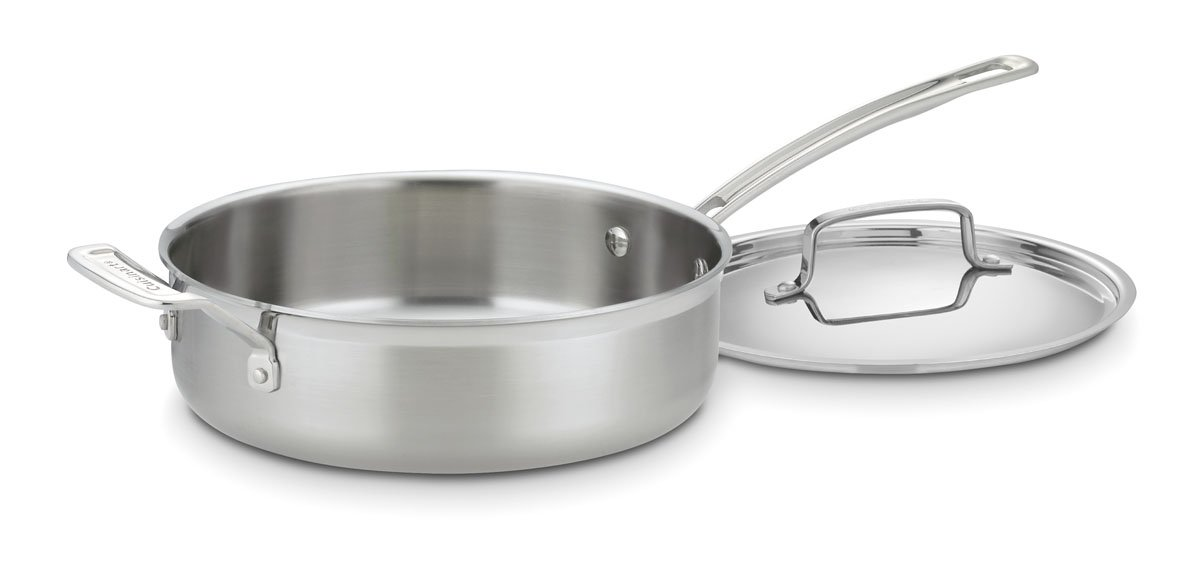 CUISINART MCP33-24HN MultiClad Pro Stainless 3-1/2-Quart Saute with Helper and Cover, Silver
