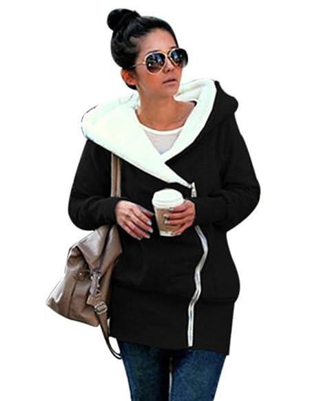 Amazon.com: Romacci Mujer Sudaderas con capucha Chaquetas ...