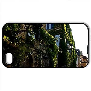 best spring street - Case Cover for iPhone 4 and 4s (Houses Series, Watercolor style, Black)