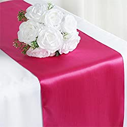 RDS 10 Satin Table Runner 12 X 108 Inch For Wedding & Venue Decoration - Magenta