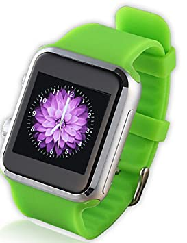 A9s relojes inteligentes para Apple iPhone y el teléfono inteligente Android con cámara bluetooth frecuencia cardíaca 2,0 muñeca reloj , arm green: ...