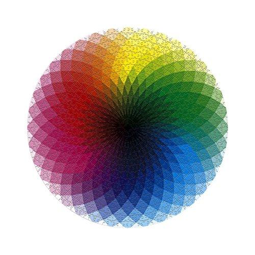 Reduced Pressure Puzzles Round Rainbow Palette Jigsaw Puzzles,1000-Piece (Rainbow Jigsaw)