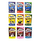 Temptations Middles Cat Treat Variety Pack - 9 Flavors (3 Ocean Middles Flavors, 3 Cheezy Middle Flavors, & 3 Steak Shoppe Flavors) - 2.47 Oz Each (9 Total Pouches)