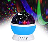good looking unique bedside lamp Toys For 4-5 Year Old Boys, Night Light Rotating Moon Stars Projector Night Lights For Kids Toys For 2-6 Year Old Girls Gifts For 2-6 Year Old Boys Girls (blue)