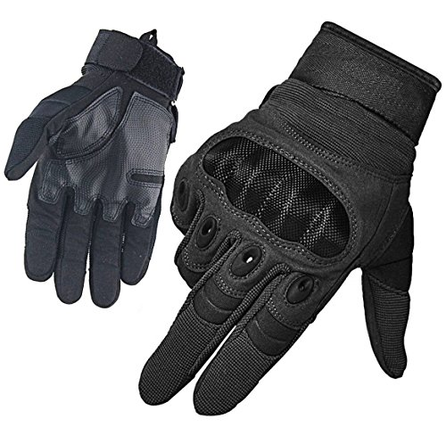 BesToo Men's Tactical Gloves Military Hard Knuckle Full Finger Winter Warmth Outdoor Safety Glove For Cycling Motorcycle Hiking Work Hunting Shooting Airsoft Paintball Combat (Black L)