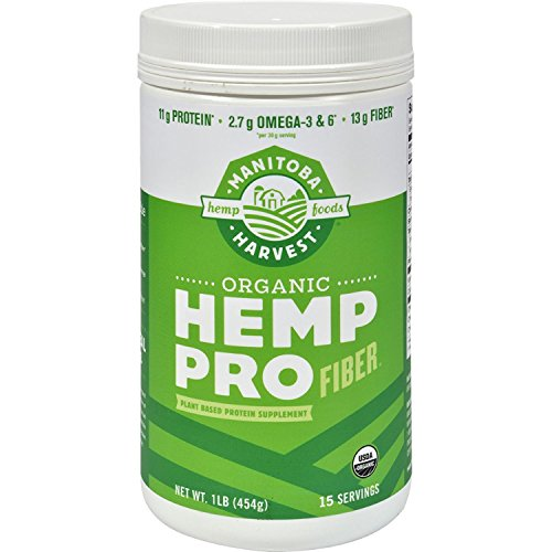 2Pack! Manitoba Harvest Organic Hemp Pro Fiber - 16 oz by Protein Powders