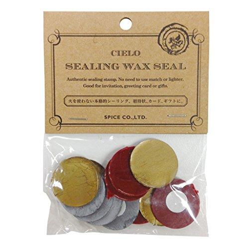 (Time Concept Multicolor Set of 3 Cielo Sealing Wax Tablets - Elegant - 4 Pieces Per Color, Envelope Vintage Closure, Retro Postage Letter)