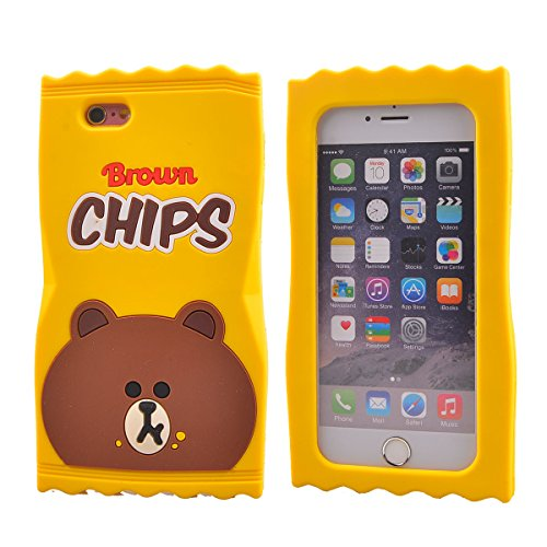 COOLKE Moda 3D Lovely Cartoon Suave Silicona Funda Carcasa Tapa Case Cover para Apple iPhone 6s Plus / 6 Plus (5.5) - 017 018