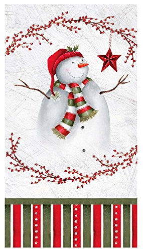 Gibson Snowman (C.R. Gibson 16 Count, 3-Ply, Paper Dinner Napkin, Measures 4.75