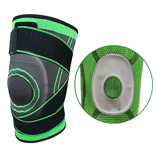 18.5' Single (Knee Brace, Compression Sleeve Fit Support -for Joint Pain and Arthritis Relief, Improved Circulation Compression -Single Wrap (Green, XL-EVA))