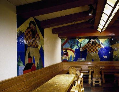 HistoricalFindings Photo: Photo of Artwork,Timberline Lodge,Mount Hood,Oregon,OR,America,Carol Highsmith - Timberline Lodge Mount Hood Oregon