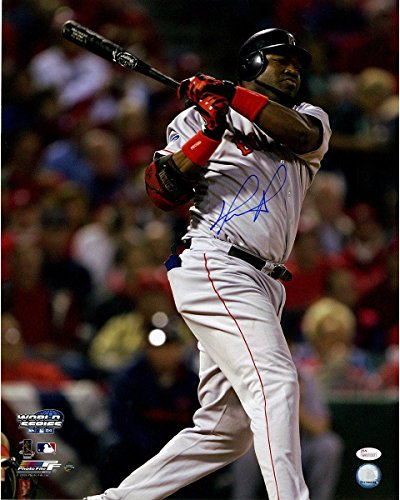 David Ortiz Signed 2004 WS Game 4 Double 16x20 Photo (JSA/SSM) - Frame Not Included (Photo 16x20 Frame Steiner)