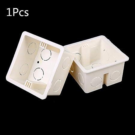FATTERYU 86 x 86 Caja de Conexiones de PVC para Interruptor de Pared, Base de Enchufe, Interruptor, Caja de Conexiones eléctrica, Accesorios: Amazon.es: Hogar