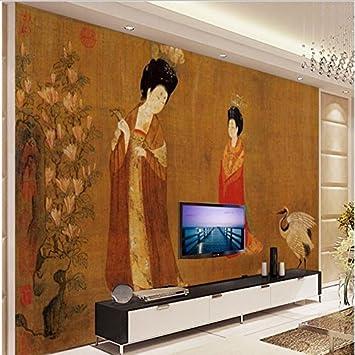 Sproud Personalizado - Escala grandes murales Retro ¿Antigua horquilla señoras figura la televisión como telón de fondo no ambientales - Wallpaper 350cmX245cm: Amazon.es: Bricolaje y herramientas
