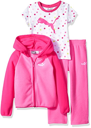 PUMA Little Girls' Three Piece Micro Fleece Set, Sugar Plum, 6 Image
