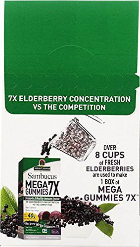 Nature's Answer Sambucus Mega Black Elderberry Gummies, 7X More Elderberry Concentration, 60 Count (2 Pack) by Nature's Answer (Image #4)