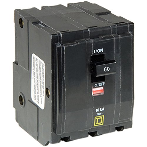 Square D by Schneider Electric QO350CP QO 50 Amp Three-Pole Circuit Breaker, (Pole Magnetic Circuit Breaker)