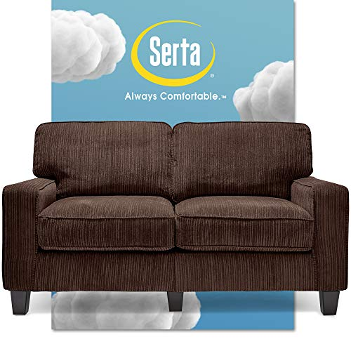 "Serta Palisades Love Seats, 61"" Loveseat, Brown"