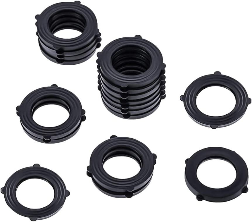 STSUNEU Garden Hose Washers, 10 Pieces Power Pressure Washer O-Rings for 3/4 Inch, Self Locking Tabs Rubber Washers Seals