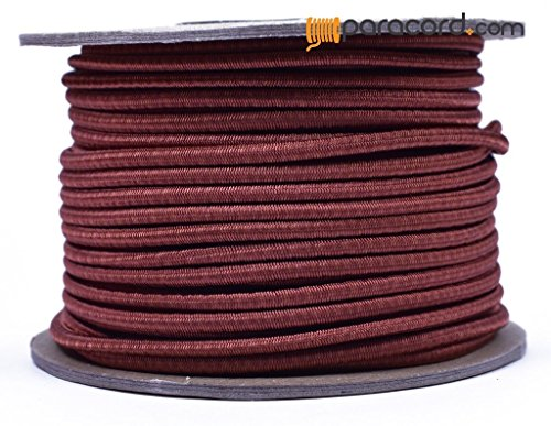 Rust 1/8'' Shock Cord - BORED PARACORD Marine Grade Shock / Bungee / Stretch Cord 1/8 inch x 100 feet Several Colors - Made in USA by BoredParacord