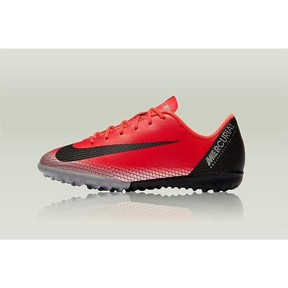 Nike Vaporx 12 Academy GS Cr7 TF, Zapatillas de Fútbol Unisex Niños, Rojo (Bright Crimson/Black/Chrome/Da 600), 21 EU: Amazon.es: Zapatos y complementos