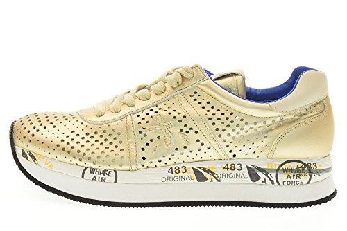 PREMIATA mujeres bajas zapatillas de deporte CONNY 1406E talla 36 Platinum