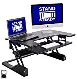 "FlexPro Precision 35"" Standing Desk from Award-Winning Stand Steady + FREE Standing Desk Wellness Guide! 
